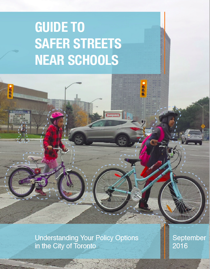 Cover of the Guide to Safer Streets near Schools report