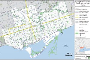 A map of Toronto's Cycling Network Plan