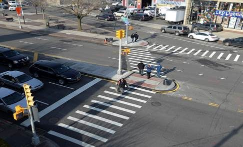 New York City Street after Vision Zero re-design