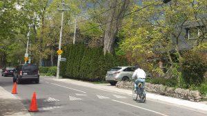 Example of a bike lane