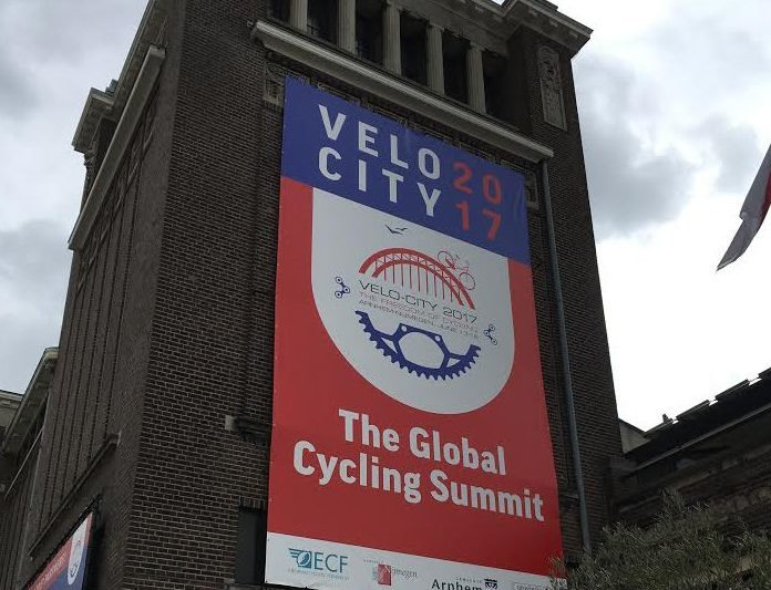 Poster from Velo City calling it the Global Cycling Summit