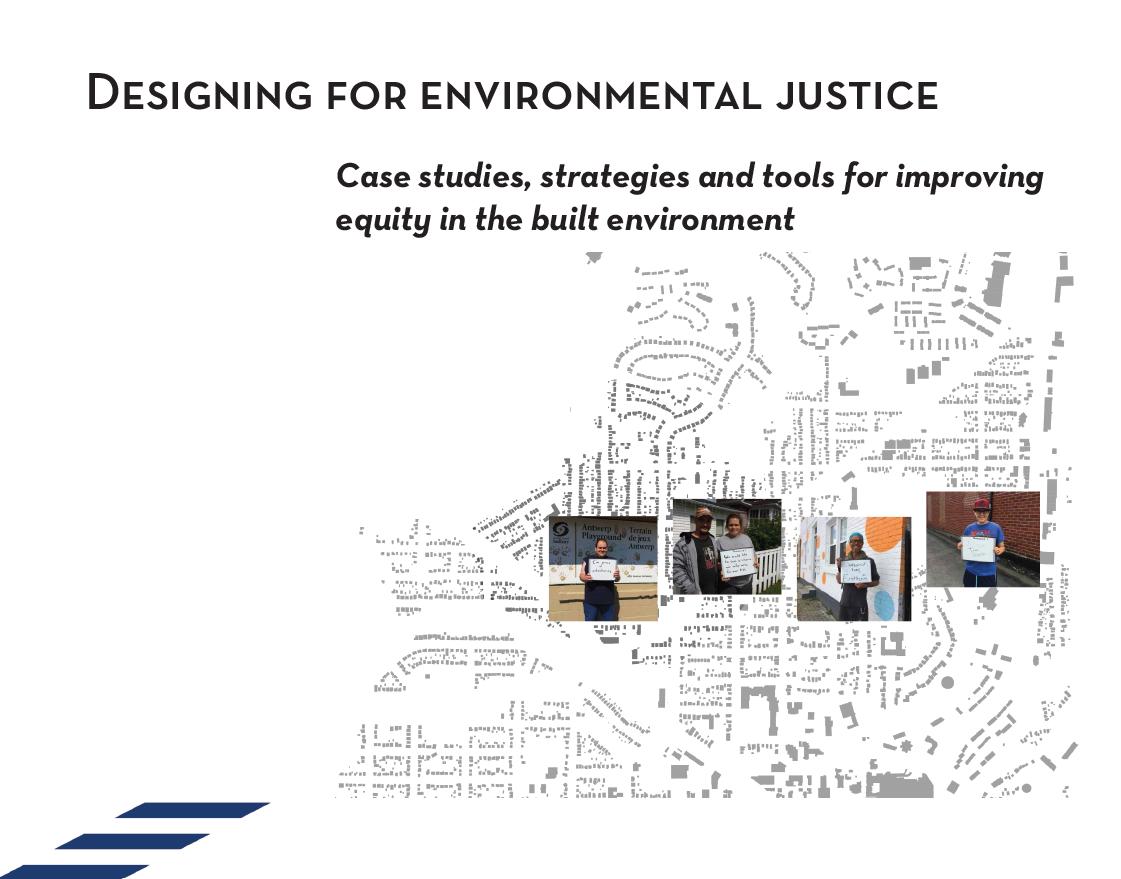 """Cover slide of presentation titled """"Designing for Environmental Justice"""""""