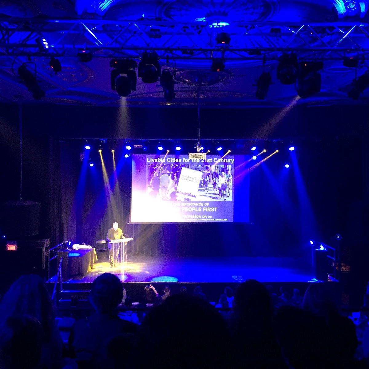 Jan Gehl on stage at the World Design Summit