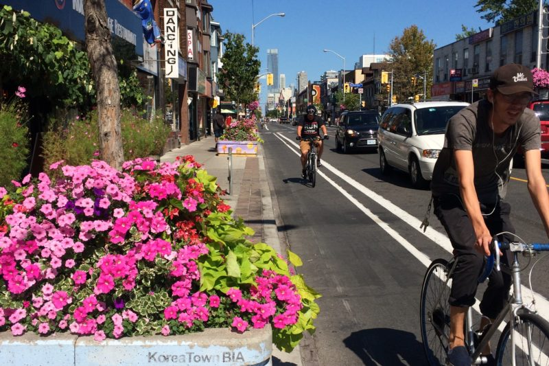 Bloor bike lane in Korea Town