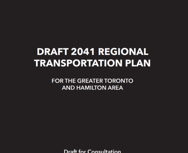 Cover of Metrolinx's Regional Transportation Plan