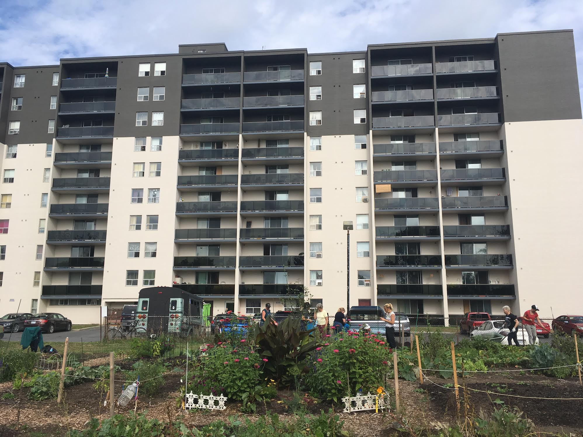 Talwood Apartment Building and Community Garden in Peterborough