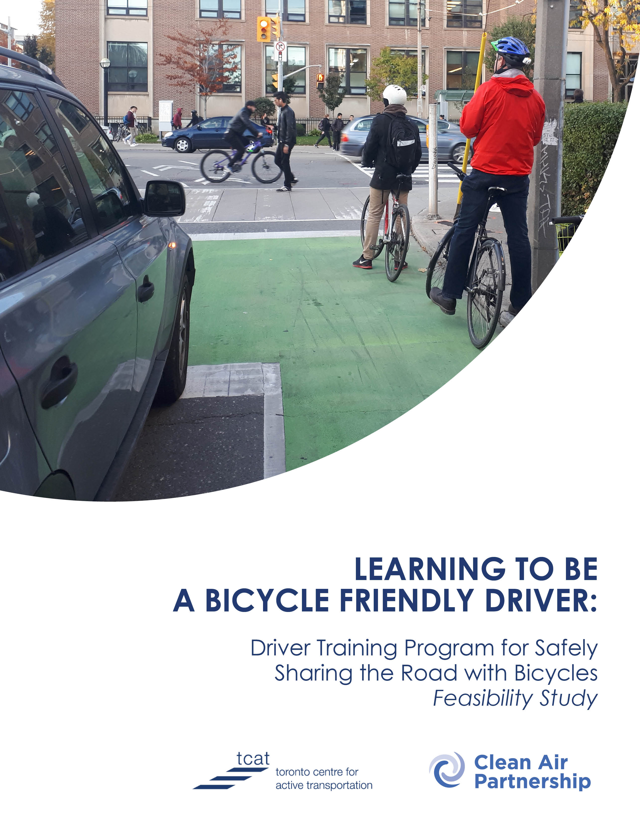 Cover for Report, Learning to be a Bicycle Friendly Driver