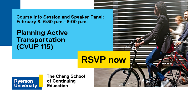 Promo for Planning Active Transportation course launch event