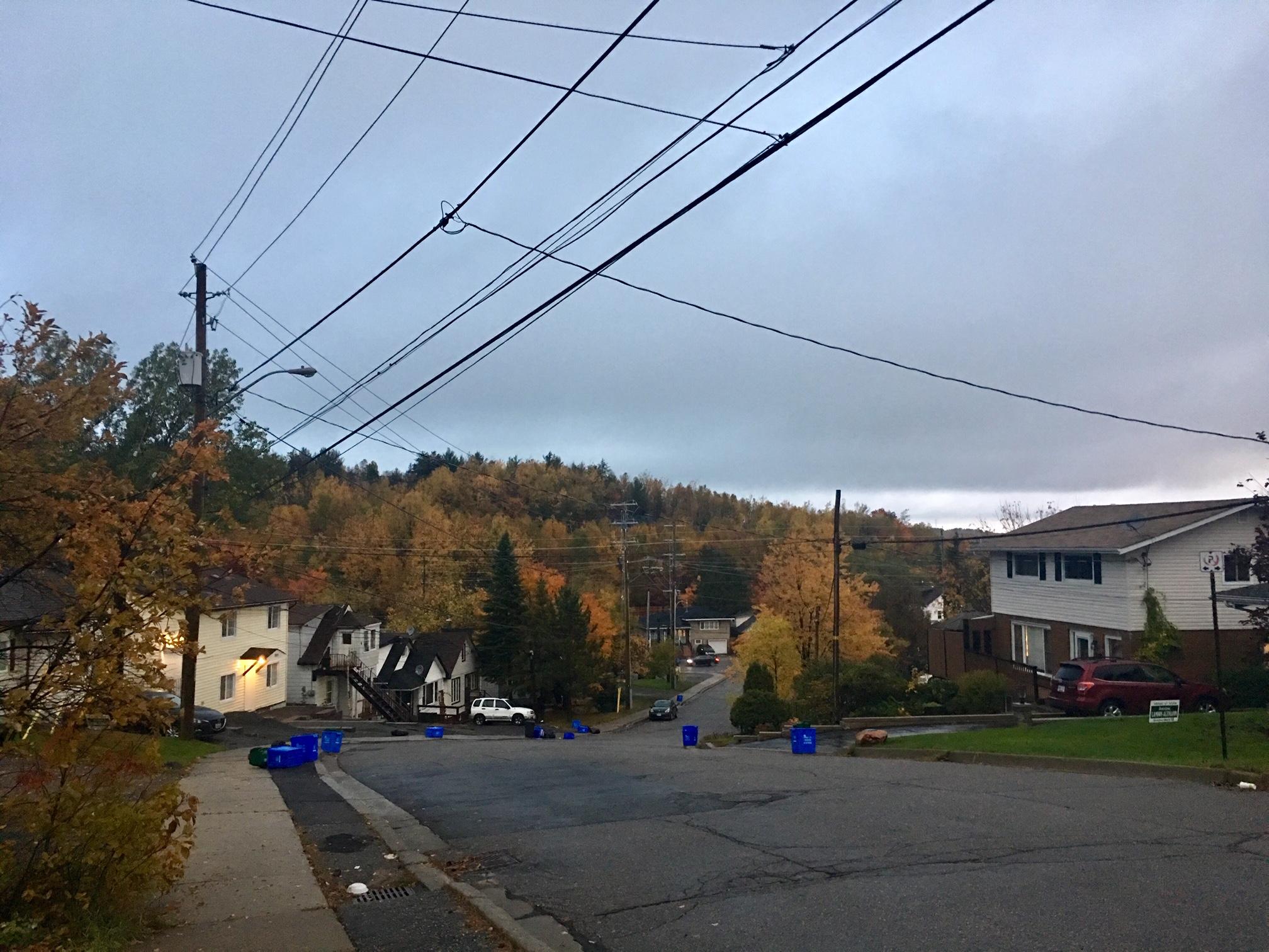 A suburban street in Sudbury, ON