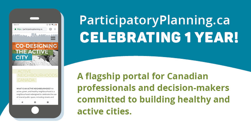 Banner celebrating the 1 year anniversary of the participatory planning website